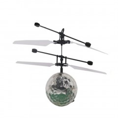 Infrared Induction Flying Flash Disco Colorful LED Ball Helicopter Kids Toy