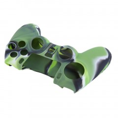 Camouflage Silicone Case Skin Grip Cover For Playstation 4 PS4 Controller Green