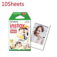 10pcs for Fuji Instax Mini Camera Film 10 Sheets White Edge Photo Paper
