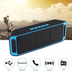 Portable Music Audio Wireless Bluetooth Speaker Stereo Subwoofer SC208 as the picture