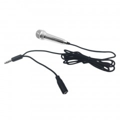 Mini 3.5mm Wired Microphone for Mobile Phone Tablet PC Laptop Speech Sing Silver  5.7cm