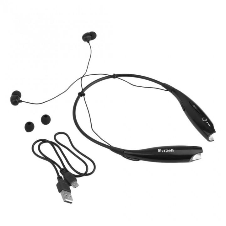 Bluetooth Wireless HandFree Sports Stereo Headset Earphone For iPhone black