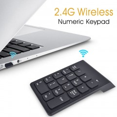 2.4G Wireless USB Key Number Pad Numeric Keypad Accounting Mini Keyboard black 140mm *85mm * 20 mm