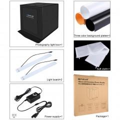 PULUZ 40*40cm Foldable LED Light Box Photo Studio Photography Tent Box Kit black 40*40*40cm