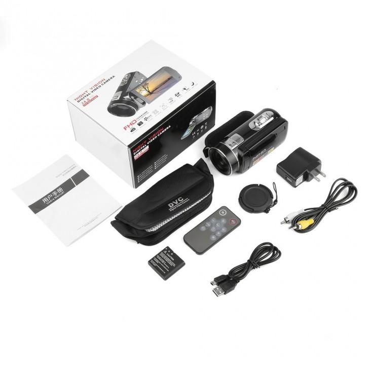Night Vision FHD 1920 x 1080 3.0 Inch 18X 24MP Digital Video Camera Camcorder