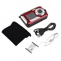 Digital Camera Waterproof 5MP MAX 1080P Double Screen16x Zoom Camcorder
