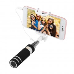 Handheld U-Shape Shelfies Bracket Selfie stick Portable Extendable Monopod Holder black
