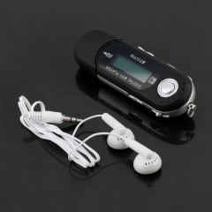 Mini USB 2.0 Flash Drive High Speed Transfer LCD Display MP3 Music Player black