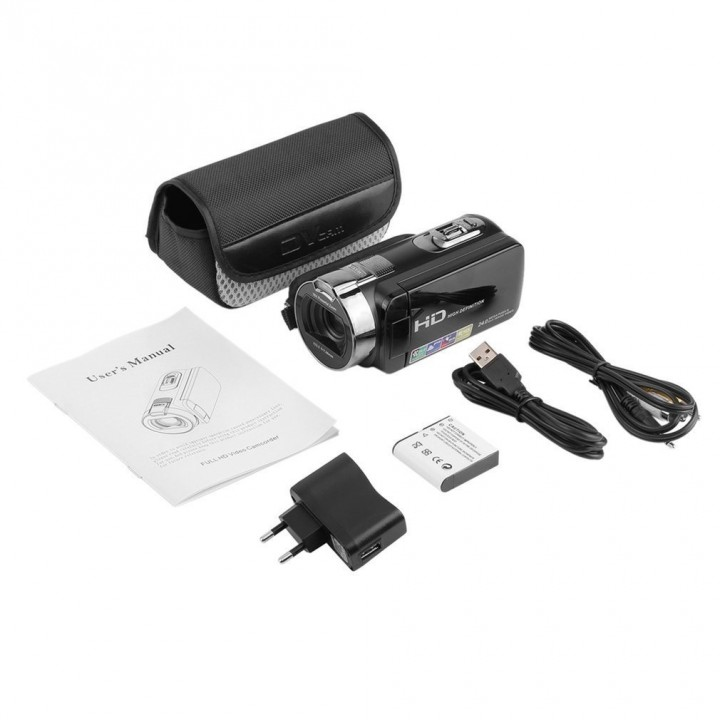 Digital Video Camera Recorder Full HD 1920x1080 Max 24 Mega Pixels 16X Zoom
