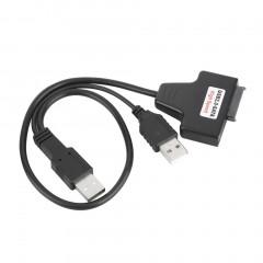 Black USB 2.0 to 7+6 13Pin SATA Laptop CD/DVD/Blu-ray Optical Drive Adapter Cable