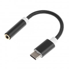Portable USB 3.1 Type-C To 3.5mm Audio Connector Microphone Female Adapter