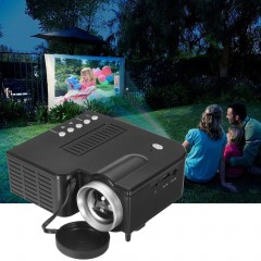 UC28B Mini Portable LED Projector 1080P Multimedia Family Cinema Home Theater black