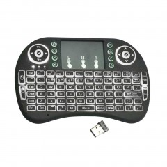 I8 Handheld Touch Panel Tricolor Backlight Keyboard Mini Wireless Keyboard