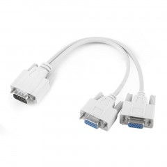 2 in 1 15-pin Plug VGA SVGA Monitor Y Splitter Cable Lead Set for Computer