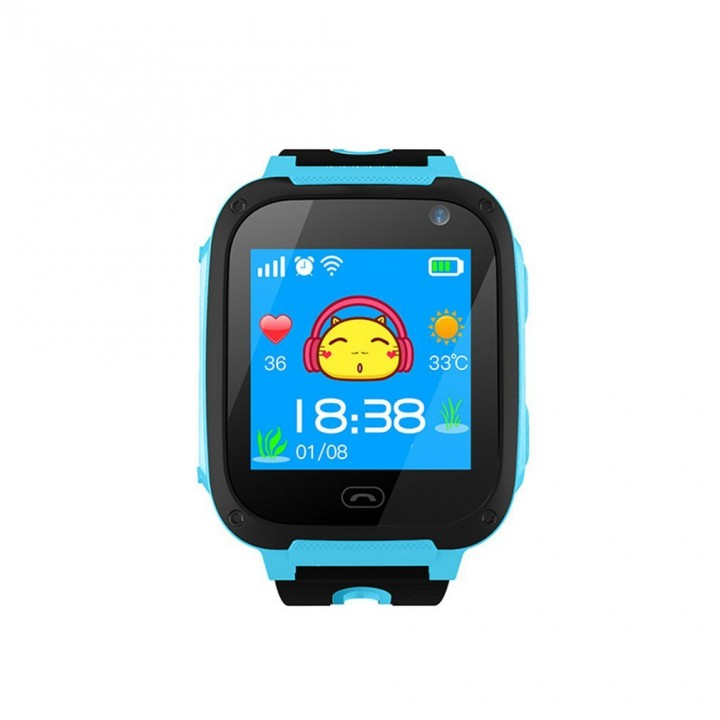 V6 Smart Watch Camera Anti Lost Monitor SOS Waterproof Kids Watch blue 87*87mm