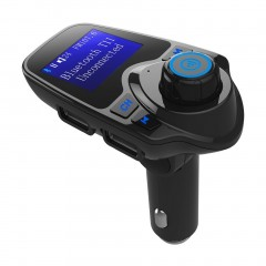 Car Bluetooth FM Transmitter Car MP3 Music Player with Separate Power Switch black