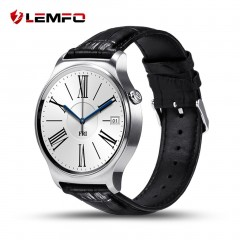 LEMFO GW01 Leather 1.33 Inch Camera Control Heart Rate Monitor Smart Watch