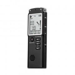 T60 Professional Digital Voice Recorder Time Display Dictaphone MP3 Player