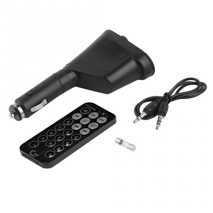 LCD Car Kit Bluetooth MP3 Player FM Transmitter Modulator MMC USB Remote green