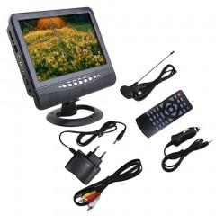 7 Inch LCD Display Analog TV FM MP3 USB Slot Auto Car Reader Digital Mobile TV