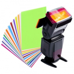 12pcs Diffuser Lighting Gel Color Card Correct Pop Up Filter for Speedlite as picture 7.4*4.6cm