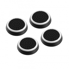 4pcs Anti-slip Gamepad Keycap Controller Cover for PS3/4 for X box One/360 black&white