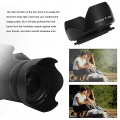 58mm Flower Shape Lens Hood Screw Mount Petal Crown For Canon DC-SN HOOD Lens black 82*40mm
