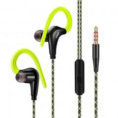 Stereo Sport Earphones with Ear Hook MIC Volume Control Running Headphone