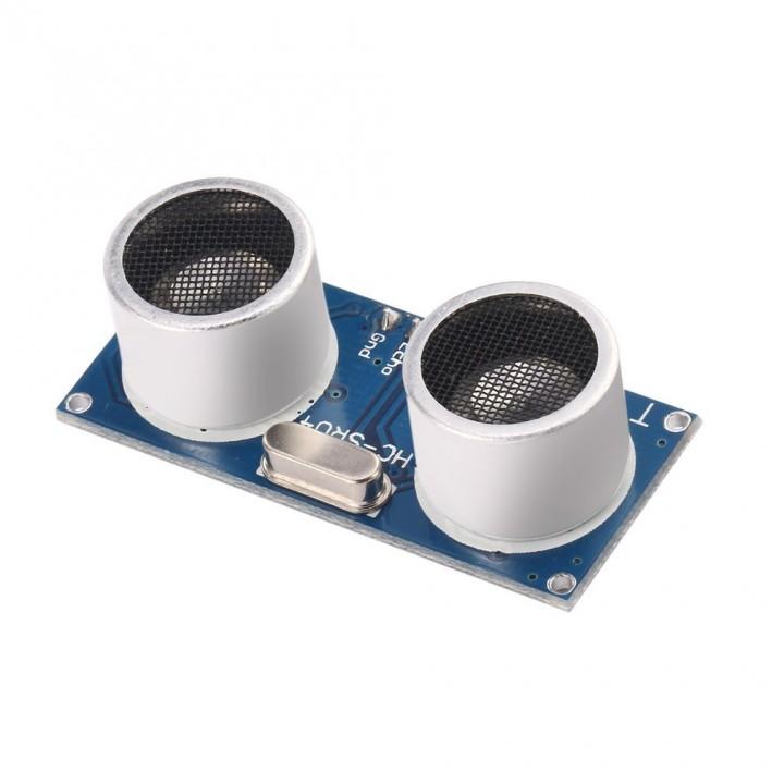 Ultrasonic Module HC-SR04 Distance Sensor Measuring Transducer for Arduino blue&sliver 45*20*16mm