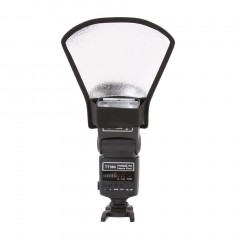 Universal Flash Diffuser Softbox Silver Reflector for Speedlite Photography Silver & white normal