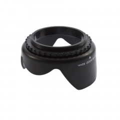 52mm Flower Petal Tulip Lens Hood Screw Mount For Canon digital Camera black 73*40mm(max)