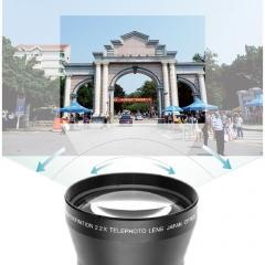 67mm 2.2x Telephoto Lens For Canon 18-135mm Lens For Nikon 18-105mm Lens black 9.5*9.5*9.5cm