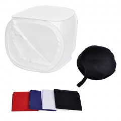 60cm Portable Photography Light Tent Foldable Photo Soft Box With 4 Backdrops