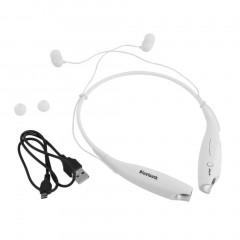 Bluetooth Wireless HandFree Sports Stereo Headset Earphone For iPhone white