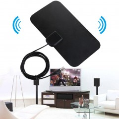 Small Ultra Thin Flat Indoor Antenna Aerial HDTV Digital TV Antanna Aerial