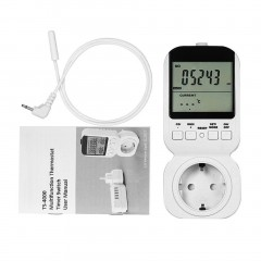 Multi-functional Thermostat Timer Switch Socket with Big LCD Display TS-4000