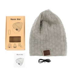 Wireless Bluetooth 4.2 Smart Cap Warm Winter Beanie Hat Headphone Speaker Mic