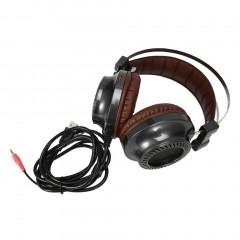 V2 Stereo Earphone Gaming Headset LED Light Hi-Fi Headphone with Microphone black