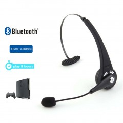 Bluetooth Wireless Headset Headphone Earphone For Sony PlayStation 3 PS3 black