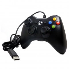 Gamepad For Microsoft For Xbox 360 USB Wired Controller Ergonomic Joypad black