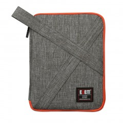 Compact Size Waterproof Nylon Wire Digital Data Cable Storage Bag Organizer gray