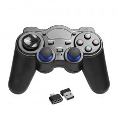 2.4GHz Wireless Game Controller Handle Gamepad Joystick With OTG Converter black