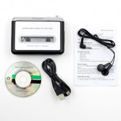 Portable Tape Cassette Convert MP3 Player Converter Audio Capture Music Player Black