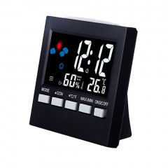 Voice Control Digital Thermometer Hygrometer Color LCD Display Weather Clock