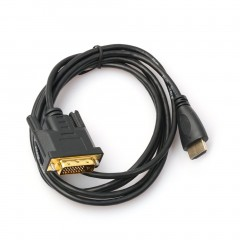 1M/1.8M/3M/5M Gold Plated HDMI To DVI 24 Cable Adapter Male To Male Converter black