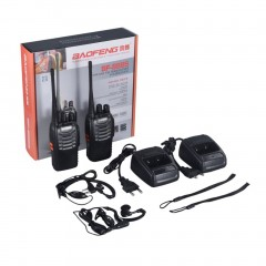 Rechargeable Walkie-talkie For Baofeng BF-888S VHF/UHF FM Transceiver Radio black