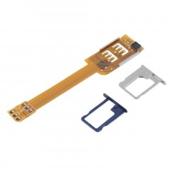 Mobile Phone Double Dual SIM Card Adapter Use Two SIM for Samsung