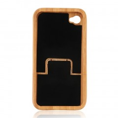 Natural Bamboo Wood Hard Back Case Cover Protector for Apple iPhone 4/4S