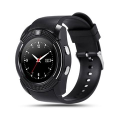 V8 Sport Smart Watch Support SIM TF Card Clock Camera Call Step Count Sleep Remind For Android Phone black one size