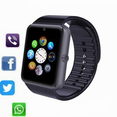 Men woman Bluetooth sport Smart Watch GT08 For IOS Android Phone Support Sync smart clock Sim Card black one size